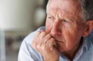 Worried retiree