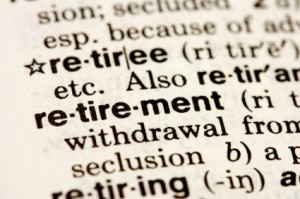 retirement dictionary