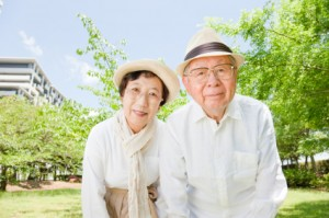 Japan ageing couple
