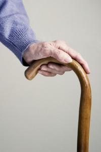 Elderly walking stick