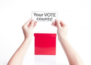 your vote counts, democracy concept