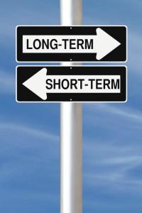 Long term - short term sign