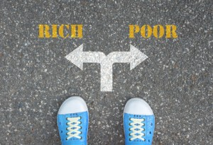 Decision to make at the crossroad - rich or poor