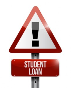 student loan warning sign illustration