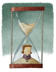 Businesswoman in hourglass