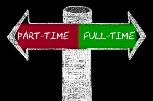 Opposite arrows with Part-Time versus Full-Time
