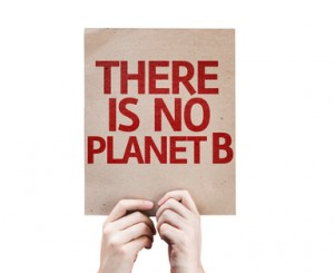 There Is No Planet B card isolated on white background