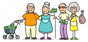 Senioren mit Geld durch richtige Geldanlage