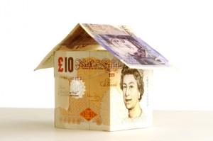 Pound notes house