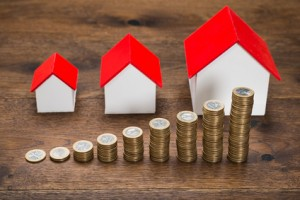 Different Size Houses With Coins