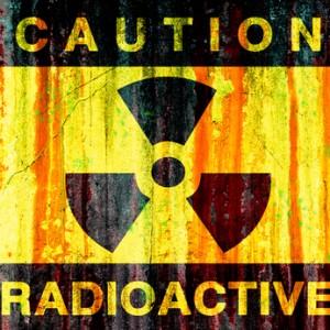 Radioactive background - grunge dirty wall