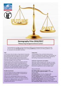 Demography Prize 2016-17 Poster