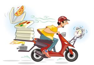 Pizza delivery hot and time