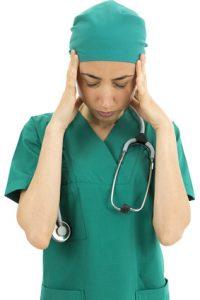 Surgeon stressed