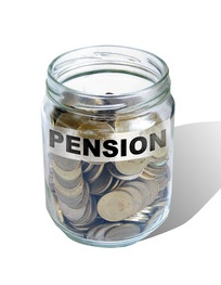 pension savings money in jar made in 2d software